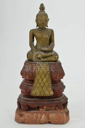 CHINESE SEATED THAI BUDDHI BUDDHA ON THRONE