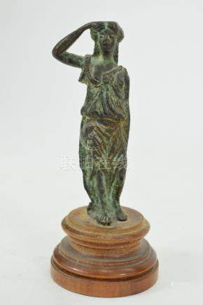 ROMAN BRONZE FEMALE GODDESS FIGURE OF ATHENA