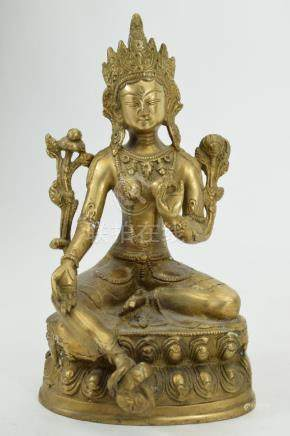 19TH C. AVALOKITESHVARA TIBETAN BRONZE