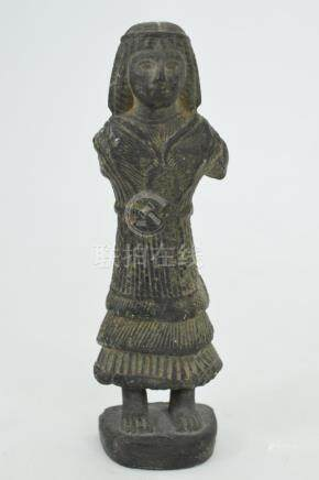 EGYPTIAN STEATITE FIGURE OF PHARAOH