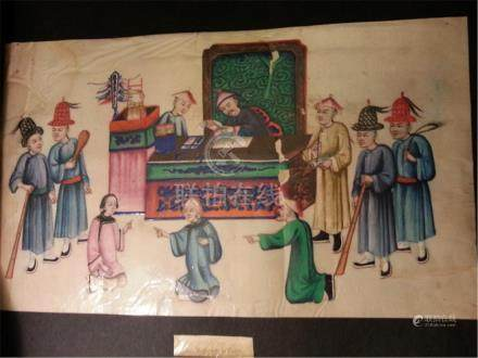 19th century Rice Paper Painting
