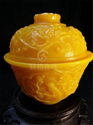 qilong pejing glass cup