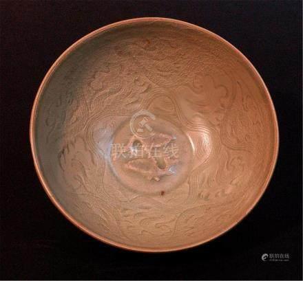 """Chinese LongQuan Glazed Celadon Bowl Size: d6 3/4"""""