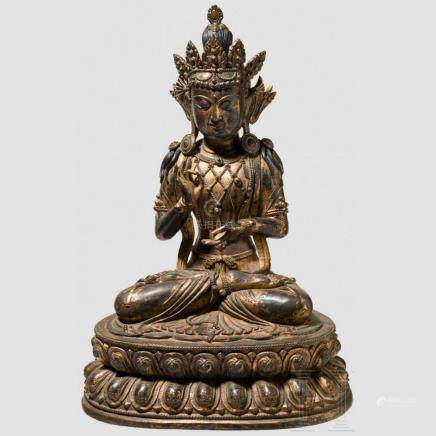 A Chinese statue of the Bodhisattva Guanyin, Ming dynasty