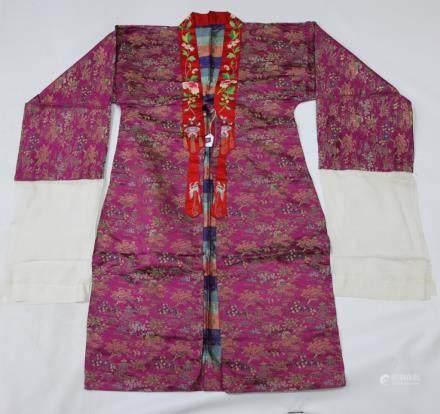 Chinese Antique Silk Brocade Dancing Coat
