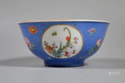 Fine Chinese Famille Rose Enameled Porcelain Bowl