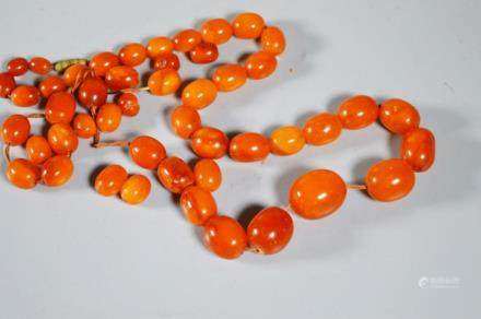 Butterscotch Amber Beads; Total 59G