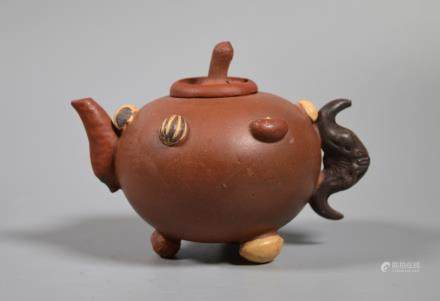 Chinese Yixing Teapot with Applied Nuts & Seeds