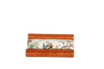 A Chinese Porcelain Brush Rest