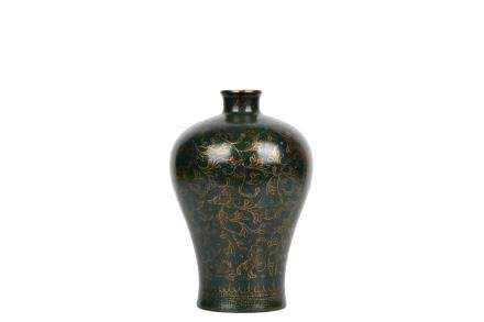 A Chinese Green Galzed Porcelain Vase