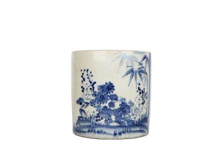 A Chinese Blue And White Square Porcelain Box With Cover