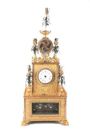 A Chinese Gilt Bronze Clock
