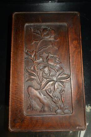 老红木子母扣长方形首饰盒子:Old mahogany buckled rectangular jewelry box