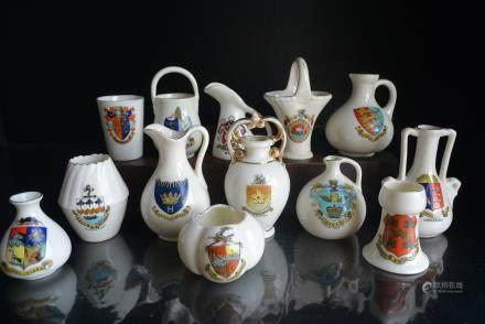 一套 欧洲百年前古董精品--家族徽章瓷器:A set of European antiques a hundred years ago - family badge porcelain