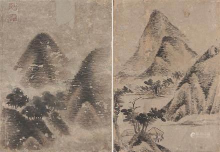 佚    名  山水二幅