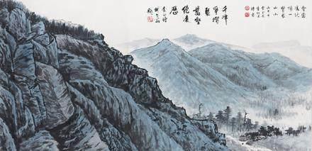 曹金國  山水(鐵牛翁題)
