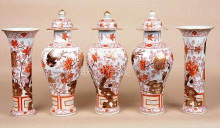 Garniture porcelaine de Chine