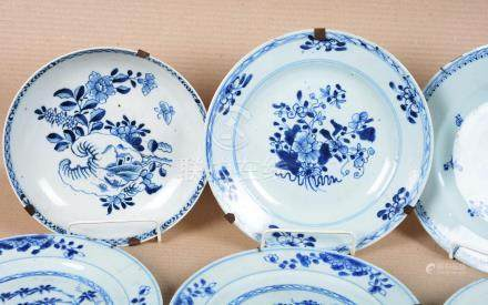 Belle suite de 6 assiettes en porcelaine de Chine