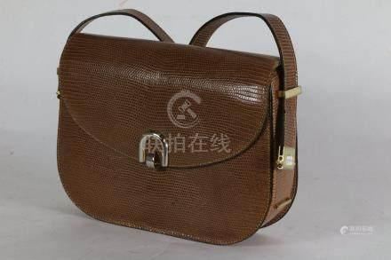 sac à main marron, 19x25 cm.vintage.