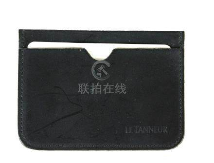 Le Tanneur, porte-cartes en cuir noir.maroquinerie.