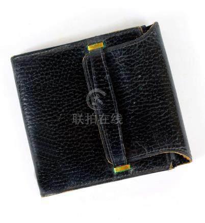 Le Tanneur, porte-document en cuir noir.maroquinerie.