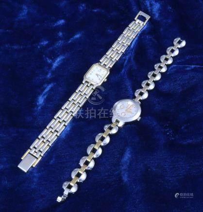 Deux montres de femme: Seiko et Tissot.