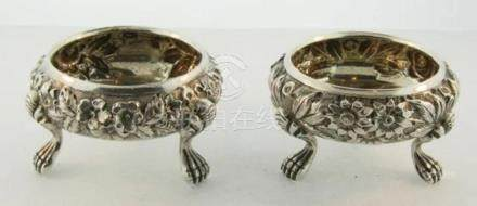 Beautiful Pair of American Antique Sterling Silver