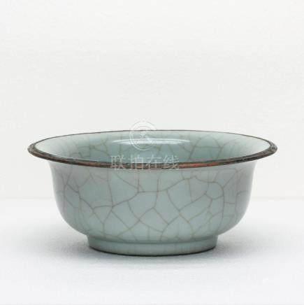 Chinese Guan-Kiln Porcelain Large Bowl Southern Song