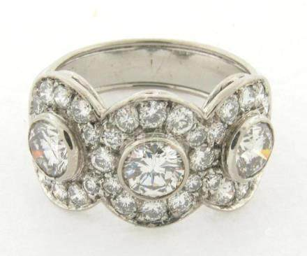 Superb Vintage Platinum Diamonds Designer Made Ring