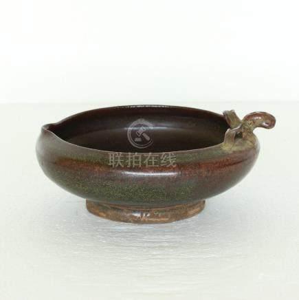 Chinese tea glaze porcelain brush washer Song Dynasty.