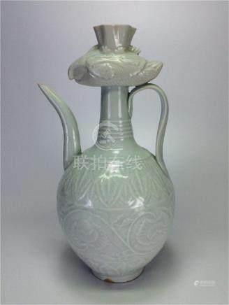 Chinese 'HuTian' 'YingQing' Porcelain pot of Ming