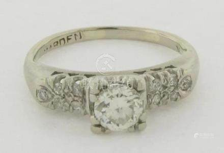 .50 Carat Diamond Engagement Ring 14k White Gold 10