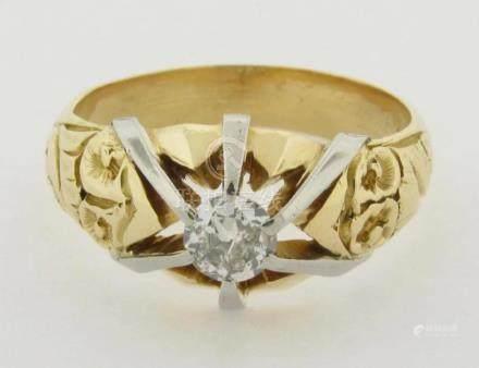 Gorgeous Vintage Diamond Ring 18K Yellow Gold