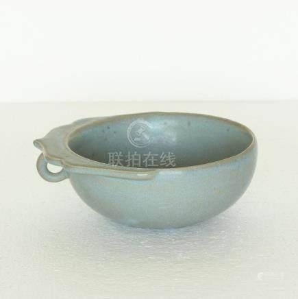 Chinese Ru-kiln Porcelain Brush Washer Song Dynasty.