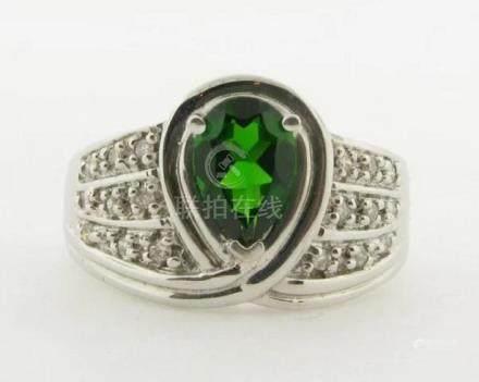 Exquisite Brilliant Green Tourmaline Diamonds 14k