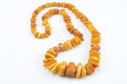 EGG YOLK AND BUTTERSCOTCH NATURAL AMBER NECKLACE