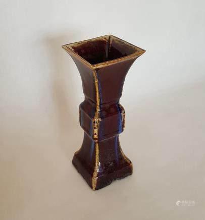 Chinese Porcelain Yaobian Glaze Vase (GU)