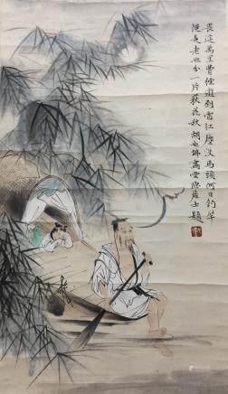Chinese Scroll Painting,Hu Yefo(1908-1980)