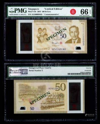 Singapore SG50 $50 SG50 000003 PMG
