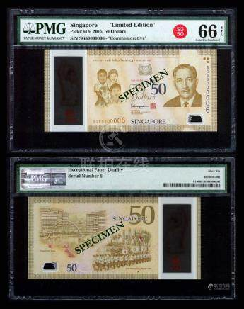 Singapore SG50 $50 SG50 000006 PMG