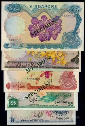 5 Singapore $1-$50 1967-72 all A/1 000008