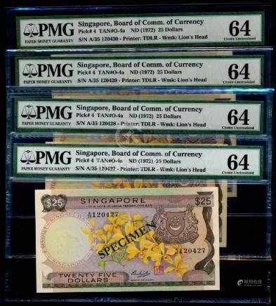 Singapore 4x$25 PMG