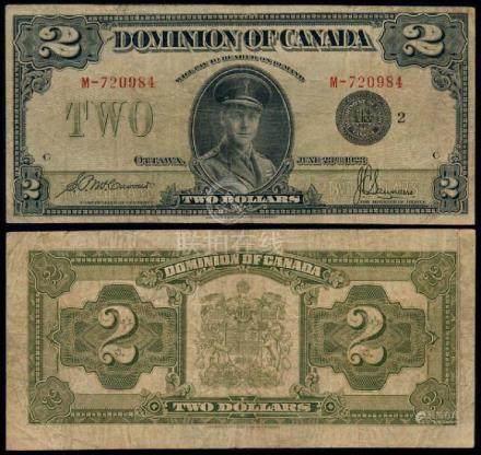 Canada $2 1923 fine