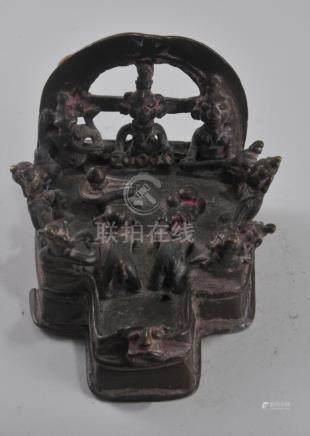 Bronze Shrine. India. 18th century. Dedicated to the