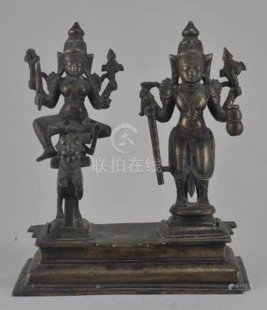 Bronze altar piece. India. 17th century. Double image