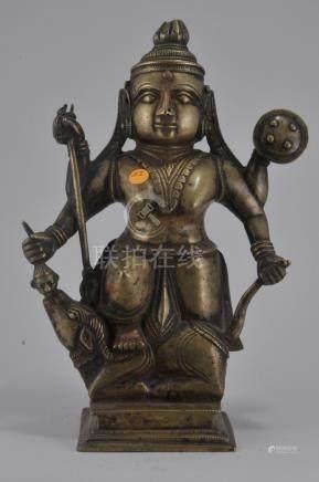 Bronze Image of a Goddess. India. 18th century. Durga