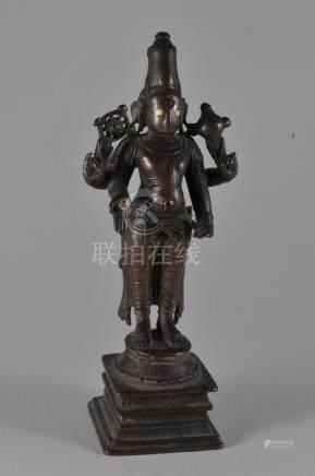 Bronze image. India. 16th century. Standing image