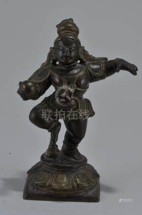 Bronze image. India. 17th century. Figure of