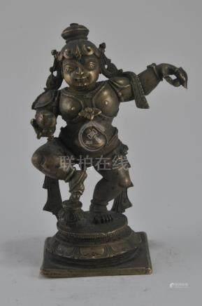 Bronze image. India. 17th century. Dancing figure of