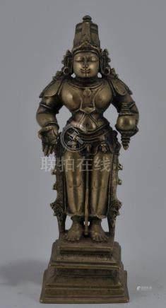 Bronze image of Vishnu. 16th century. Standing image